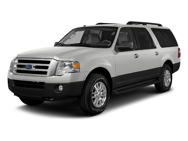 2014 FORD EXPEDITION EL LIMITED white platinum metallic tri-coat stone interior 7 miles VIN 1FM